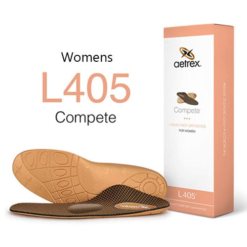 Aetrex Womens Compete Med High Arch W Metatarsal Support